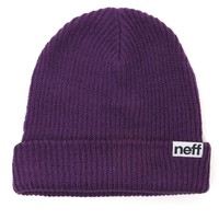 Neff Fold Beanie - Womens Hat - Purple - One