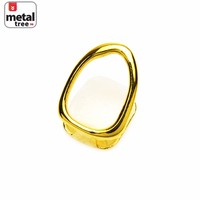 Jewelry Kay style Men's Fashion Hip Hop Bling 14K Gold Plated Single Open Teeth Grillz ND L02 G