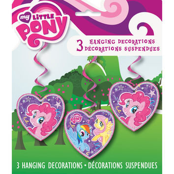 My Little Pony Party Hanging Swirl Decoations [3 Per Pack]
