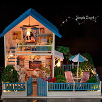 Miniature Dollhouse  DIY Kit Love From Star with Voice Control Light and Music Box Cute Room House Model