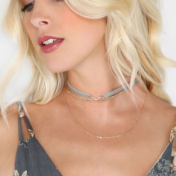 Punk Necklace Design Classical Leather Metal Link Chain Choker Crystal Heart