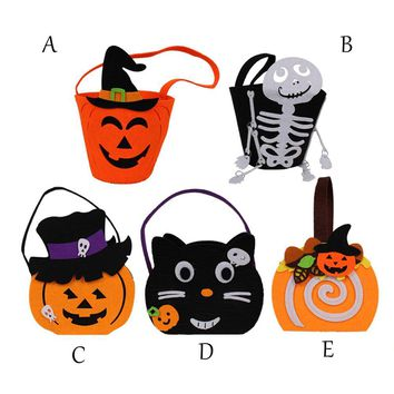 2018 funny smile pumpkin pattern Halloween Kids Doll Candy Sweet Jar Box Children Storage Cans Party House Decor Drop Shipping