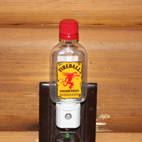 Upcycled Mini Fireball® Bottle Night Light, LED Night Light, Upcycled Liquor Bottle