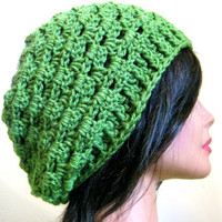 Slouchy Hat Lacy Green Womens Oversize Slouch Beanie