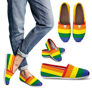 LGBT Special Custom Toms Women Casual Shoes || Handmade