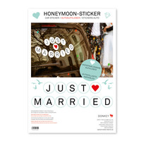 Removable Car Stickers Honeymoon for Weddings