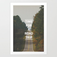 ROAD TRIP Art Print by Allyson Johnson