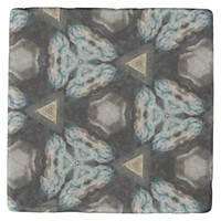 Sliced Blue Stone Coaster