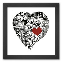 Art.com ''Love in 44 Languages'' Framed Art Print (Soho Thin)