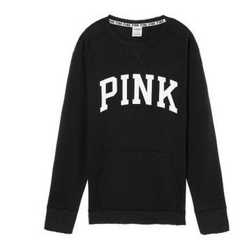 PINK Victoria's Secret Shirt Pullover Sweater Blouse Top 7-Color Black