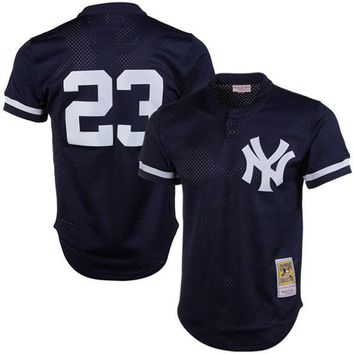 Men's New York Yankees Don Mattingly Mitchell & Ness Navy 1995 Authentic Cooperstown Collection Mesh Batting Practice Jersey