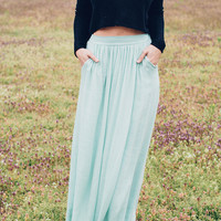 Sea Breeze Mint Skirt
