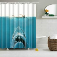 Jaws Shark Shower Curtains
