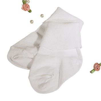 Anklet Dress Socks White 100% Nylon Quality Baby Boys Ankle Socks (Pkg of 2 Pair)