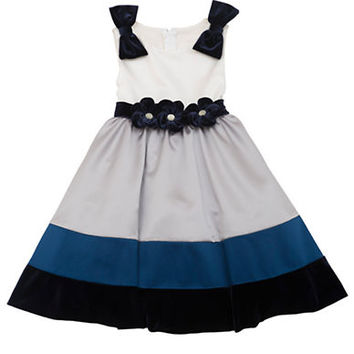 Rare Editions Girls 2-6x Sleeveless Colorblock Dress