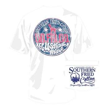 After Hours Tee in White by Southern Fried Cotton