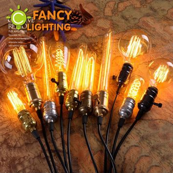Retro lamp e27 vintage edison filament light 110v 220v incandescent bulb g95 st64 lamp for home decor bombillas outdoor lighting
