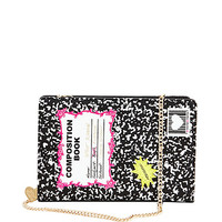 KITCH COMPOSITION BOOK SHOULDER BAG: Betsey Johnson