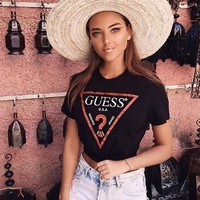 Guess Hot Letters Print T Shirt-2