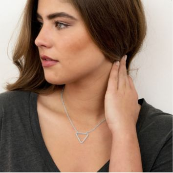 Triangle Open Shape Necklace | 2 colors