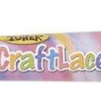 CraftLace Hank Craft Lace for Lanyards and Craft Work, Bubble Gum