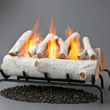 Fireplace Log Set - Birch Logs