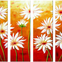 Virtue of the Daisy Canvas Wall Art