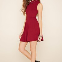 Mock Neck Skater Dress