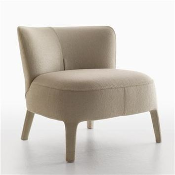 Maxalto Febo Armchair-Low Back - Style # 2800N, Modern Armchairs | Contemporary Arm Chairs | SwitchModern