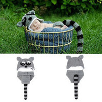 Baby Newborn Photography Suit Girls Boys Woolen Crochet Knit Costume Fotografia Clothes Accessories Toddler Civet Cats Outfits