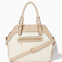 Slopeside Faux Shearling Satchel | Fashion Handbags - Slope Style | charming charlie