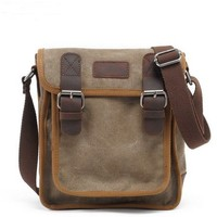 sturdy canvas shell crossbody bag for ipad by Distressed backpack & messenger bag