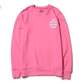 Anti Social Social Club Pink / White Sweater