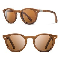 Women's Shwood 'Florence' 49mm Polarized Wood Sunglasses