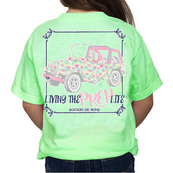 "Youth Southern Girl Prep ""Jeep"" Short Sleeve T-shirt"
