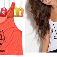 Niall Horan Signature Cropped Tank Top