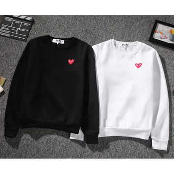 Brand Design Plays hoodie mens Sweatshirt Loose Heart Embroidery hip hop men women O neck sweater sweatershirts