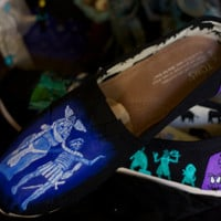 Disney Haunted Mansion Custom Painted Shoes Disneyland Disney World Artwork and shoes included