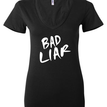 "Selena Gomez ""Bad Liar"" Women's V-Neck T-Shirt"
