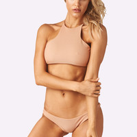 Kendall Top x Madison Bottom Bikini Separates (Nude Rib)