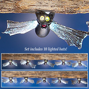 Fiber Optic Halloween Solar Bat Lights