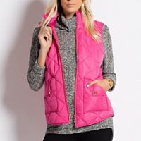 Perfectly Pink Quilted Vest