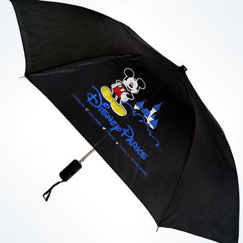 disney parks mickey walt disney world black umbrella new with tags