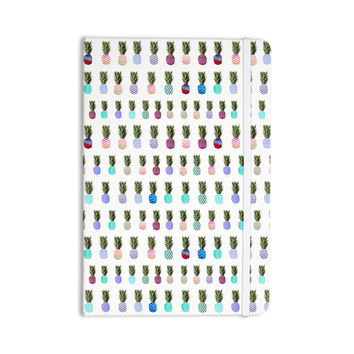 "Monika Strigel ""Pineapple People"" White Multicolor Everything Notebook"