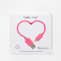 Happy Plugs Pink Lightning Charge & Sync Cable
