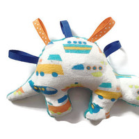 Sensory Toy with Tags for Baby, Baby Dinosaur Toy, Stegosaurus Baby Toy
