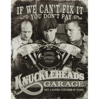 Three Stooges Tin Concert Sign