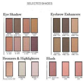 2017 MEIS Brand Eye Shadow Palette New Style Professional Makeup DIY Eye Shadow Blush Eyebrow Enhancers Bronzers & Highlighters