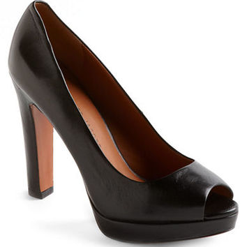 Marc By Marc Jacobs Peep-Toe Patent Leather Platform Pumps
