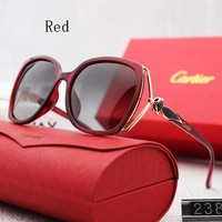 Cartier new ladies' polarized sunglasses and sun-glasses make sunglasses with sun-resistant sunglasses stick out